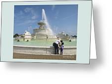 Belle Isle Fountain Splash Greeting Card