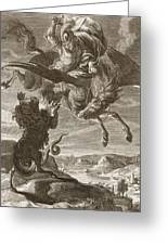 Bellerophon Fights The Chimaera, 1731 Greeting Card