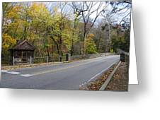 Bells Mill Road In Autumn Greeting Card