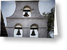 Bells Of Mission San Diego Too Greeting Card