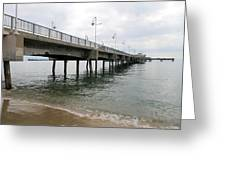 Belmont Shore Pier California Greeting Card