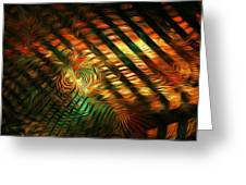 Below Abstract Greeting Card
