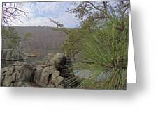Below Badin Dam Greeting Card