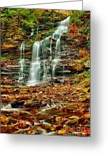 Below Ganoga Falls Greeting Card