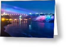 Below Niagara Falls Greeting Card