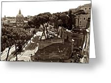 Below The Capitoline Hill Greeting Card