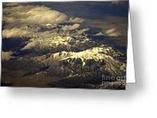 Below The Clouds Greeting Card