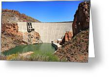Below The Dam Greeting Card