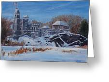 Belvedere Castle Central Park Nyc Greeting Card
