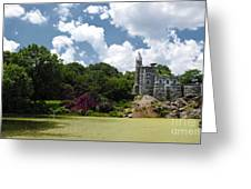 Belvedere Castle Turtle Pond Central Park Greeting Card