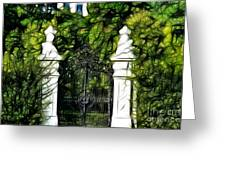 Belvedere Palace Gate Greeting Card