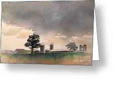 Bemis Road -1    Saline Michigan Greeting Card