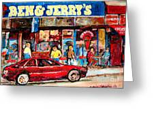 Ben And Jerrys Ice Cream Parlor Greeting Card