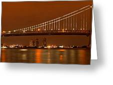 Ben Franklin Bridge Giant Panorama Greeting Card