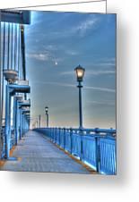 Ben Franklin Bridge Walkway Greeting Card