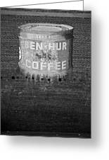 Ben Hur Coffee Greeting Card