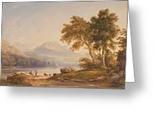 Ben Vorlich And Loch Lomond Greeting Card by Anthony Vandyke Copley Fielding
