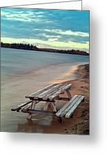 Bench And Table  Greeting Card