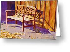 Bench At Sharlot Hall Greeting Card by Robert Hooper