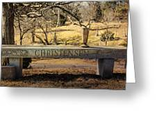 Bench At Spring Grove Greeting Card