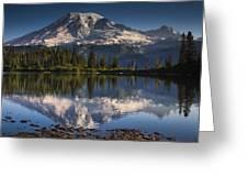 Bench Lake Sunrise Greeting Card