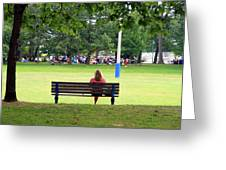 Bench Thoughts Greeting Card