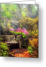 Bench - Tranquility II Greeting Card