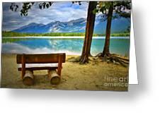 Bench View At Lake Edith Greeting Card