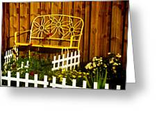 Bench With No Name  Greeting Card