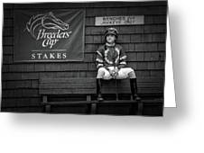 Benches For Jockeys Only Greeting Card