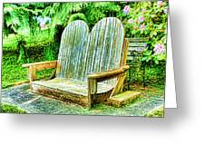 Benches II Greeting Card
