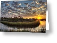 Bend In The Bayou Sunrise Greeting Card