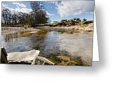 Bend In The Breamish River Greeting Card