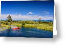 Bend Sunriver Thousand Trails Oregon Greeting Card