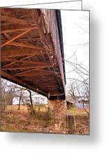 Beneath Euharlee Covered Bridge Greeting Card
