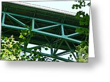 Beneath The Cut River Bridge Greeting Card