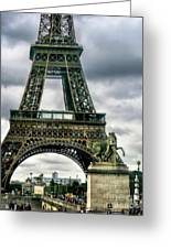 Beneath The Eiffel Tower Greeting Card