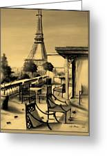 Beneath The Tower   Number 6 Greeting Card by Diane Strain