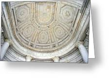 Beneath This Marble Ceiling Greeting Card