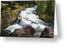 Benham Falls - Oregon Greeting Card