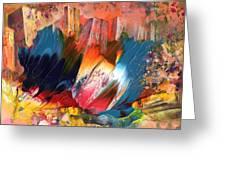 Benidorm En Fleur Greeting Card