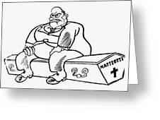 Benito Mussolini Cartoon Greeting Card