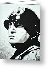 Benito Mussolini Greeting Card