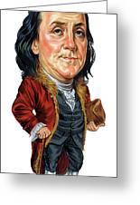 Benjamin Franklin Greeting Card by Art