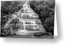 Benton Falls In Black And White Greeting Card