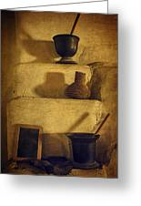 Bent's Old Fort Kitchen Fireplace Greeting Card