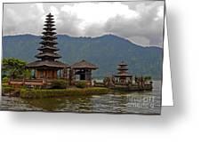 Beratan Island Temple Greeting Card