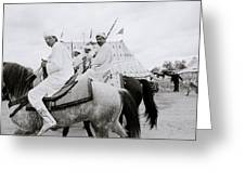 Berber Horsemen Greeting Card