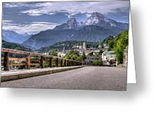 Berchtesgaden Road And Mountain Greeting Card