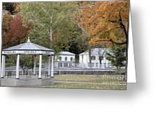Berkeley Springs Bandstand In West Virginia Greeting Card